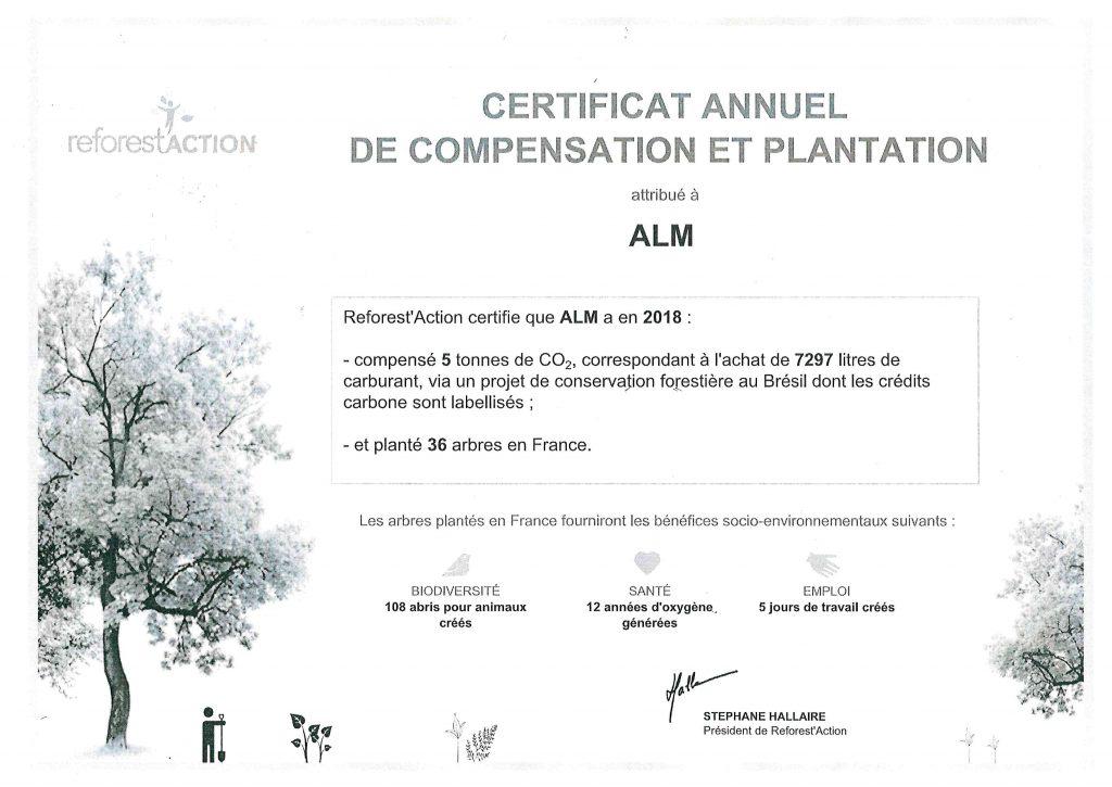 Certificat environnement ALM