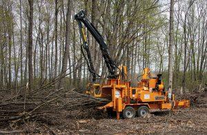 Broyeur forestier avec grue Kelsa - Bandit 21XP
