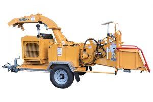 Broyeur de branches thermique compact sur châssis routier 12X Bandit ALM