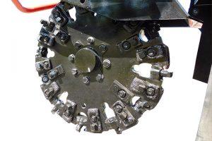 Dessoucheuse thermique disque 44 dents carbure SG-75 Bandit ALM.