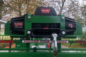 Treuil électrique WARN sur broyeur de branches thermique bioethanol Bandit 12X