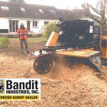 Rogneuse sur chenilles grand format Bandit SG-75 !