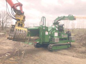 Broyeur forestier à chenilles automoteur capacité 52 cm Bandit 18XPT.