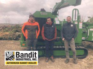 Broyeur forestier à chenilles diesel de 174 cv Bandit 18XPT.