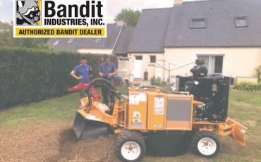 Entreprise Allée et sa rogneuse de souches hydraulique sur roues Bandit 2550.