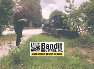 Dessoucheuse sur chenilles société Delomosne, Bandit SG-75 ALM
